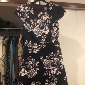 Vince Camuto Foral-Print Fit & Flare Dress